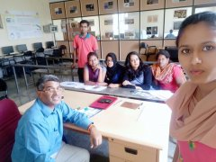 Students of JSSAJDTC undergoing training in CAD, Integrated jewellery Designing and Manufacturing