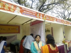 Visitors at stall of JSS AJDTC, BBMP International Women's day event