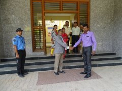 Quality Council of India inspection of existing infrastructure at JSS AJDTC