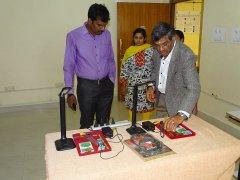 Sri. D P Manjunatha explaing facilites available at JSS AJDTC to QCI Inspection Team