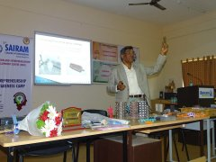 "Sri. D P Manjunatha conducting one day workshop on ""Foundry Technology Pertaining to Jewellery Manufacture"""