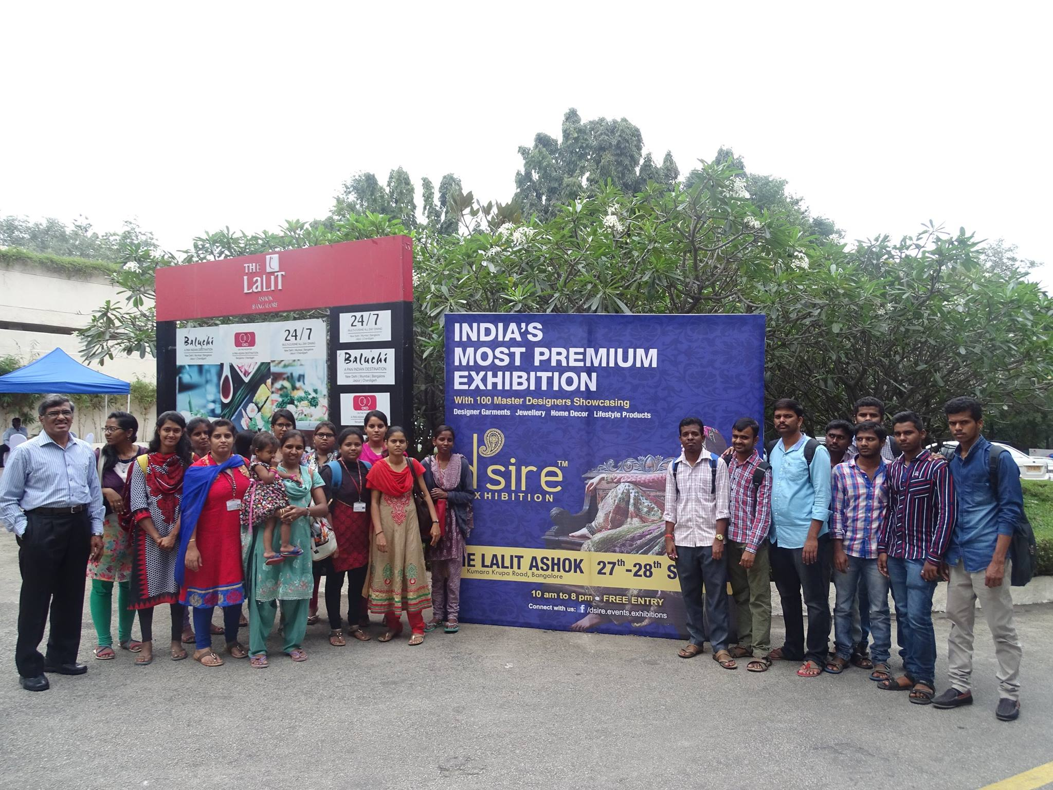 JSS AJDTC's Faculity and Students at d'sire exhibition